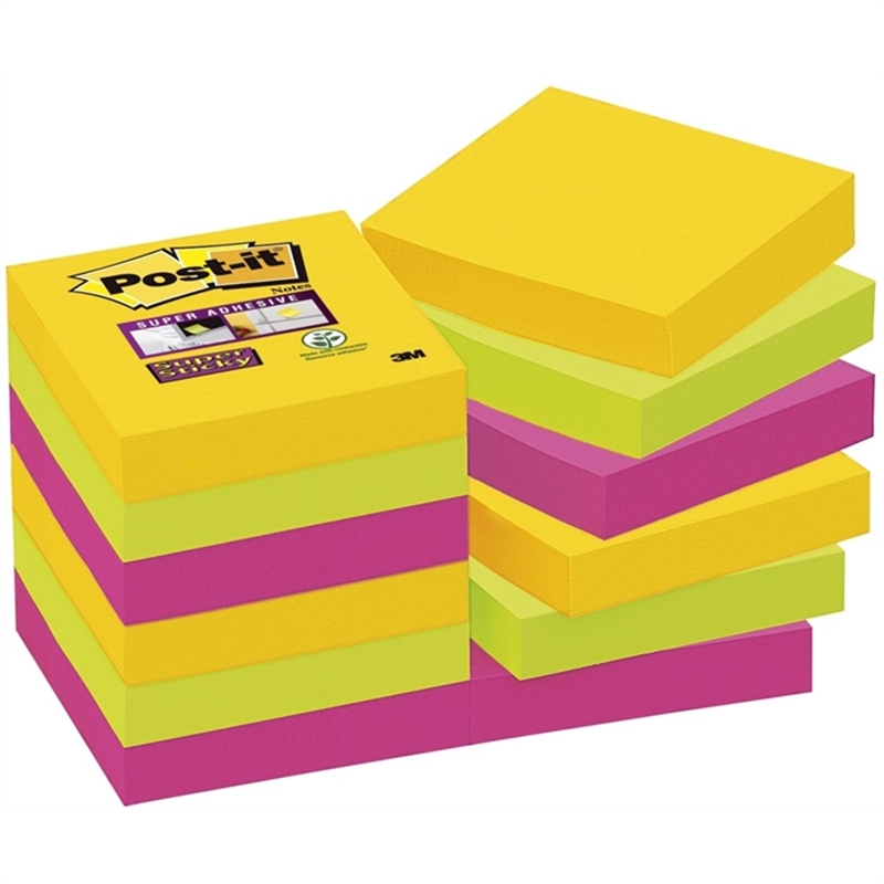 post-it-haftnotiz-super-sticky-48-x-48-mm-3farbig-sortiert-90-blatt-12-blocks-B171065