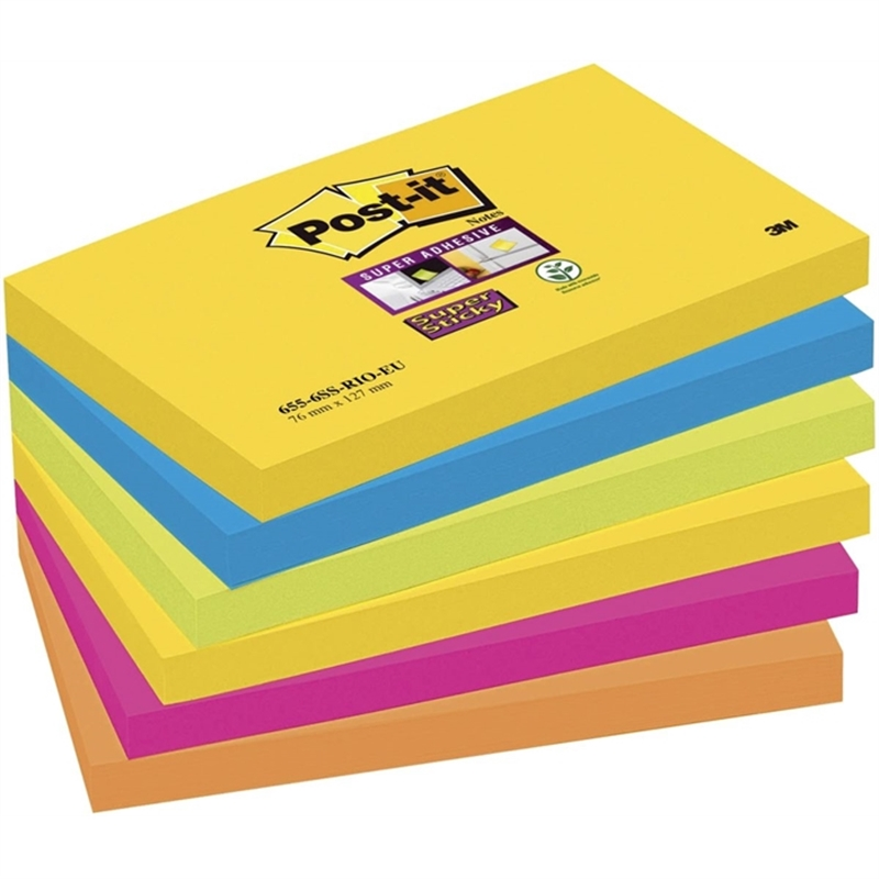 post-it-haftnotiz-super-sticky-127-x-76-mm-5farbig-sortiert-90-blatt-6-blocks